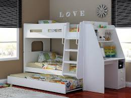 Olympic White Wooden Bunk Bed Sleepland Beds - Wooden bunk bed with trundle