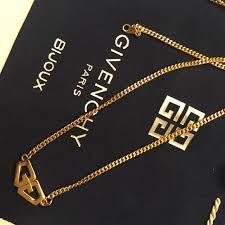 gold necklace vintage images Givenchy jewelry vintage gold logo necklace poshmark jpg