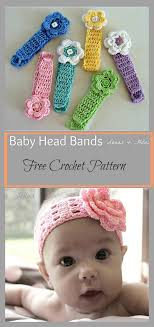 baby hairbands headbands free crochet pattern