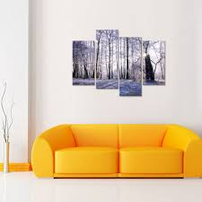 winter forest canvas wall art sunshine forest tree canvas prints