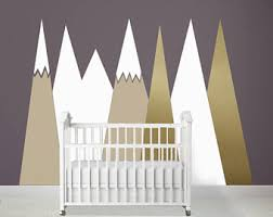Headboard Wall Decor by Nursery Mountain Crib Headboard Wall Decal Art Wall Protection