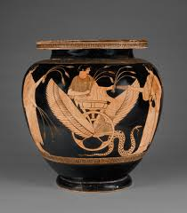 Greek Red Figure Vase Attic Red Figure Footed Dinos Getty Museum