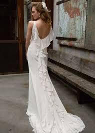 Chiffon Wedding Dresses David U0027s Bridal Galina Chiffon Wedding Gown With Ruffle Detail And