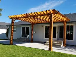 Solid Roof Pergola Kits by The Big Kahuna Solar Ready Pergola Kit Wood Pergola Kit