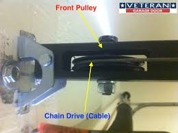 i drive garage door opener my garage door opener chain broke how can i fix it