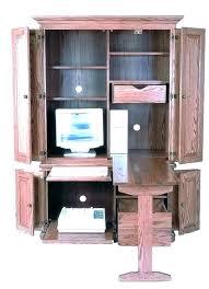 Amish Computer Armoire Amish Corner Computer Armoire Desk Armoires Regarding Idea 1