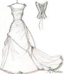 drawing of a wedding dress wedding dresses