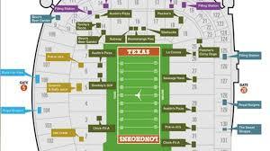 Royals Stadium Map Stadium Map Shows New Concessions Burnt Orange Nation