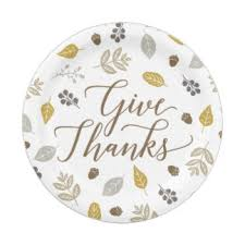 thanksgiving give thanks plates zazzle