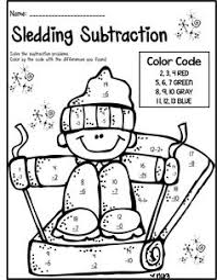 freebie roll read and color winter game great for kindergarten