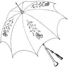Clip Umbrella Vintage Parasol Clipart Antique Clip Art Umbrella Parasol Sketch