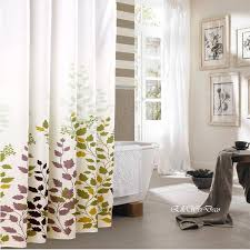 Curtains Bathroom Sophisticated Fall Shower Curtains For Guest Bathrooms Rotator Rod
