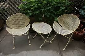 Small Patio Chair Furniture Mid Century Modern Outdoor Chairs With Coffee Table For