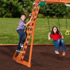 woodridge ii wooden swing set backyard discovery