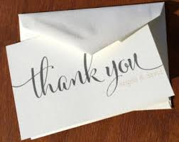 cheap thank you cards wedding thank you cards etsy