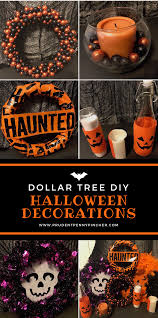 halloween decorations made at home dollar tree halloween decorations prudent penny pincher