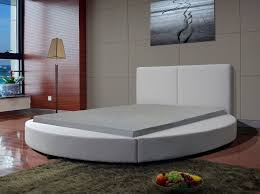round bed frame leather round bed