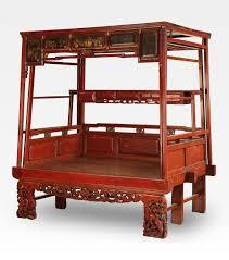 letto a baldacchino antico letto cinese a baldacchino rosso intagliato legno di abete cod