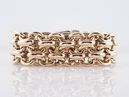 gold vintage bracelet images Vintage link bracelet mid century tiffany co in 14k yellow gold jpg