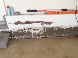 garage concrete wall paint peeling foundation color stains