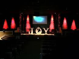 Church Stage Christmas Decorations 11 Best Church For Christmas Images On Pinterest Church