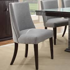 Dining Chair Upholstered Gray Upholstered Round Back Dining Chair Pertaining To Gray