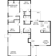 Single Story Ranch Style House Plans Ranch Style House Plan 3 Beds 2 00 Baths 1070 Sq Ft Plan 60 465