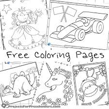 preschool coloring pages projects preschoolers