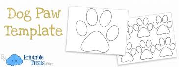 Paw Print Template by Printable Paw Template Paw Prints Printable Treats