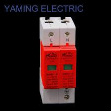 ge surge protector red light spd 30 60ka 2p 1p n 385v house surge protector low voltage arrester