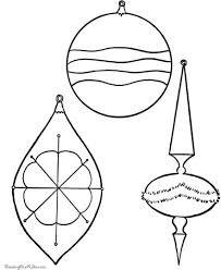 christmas ornament coloring pages part 3