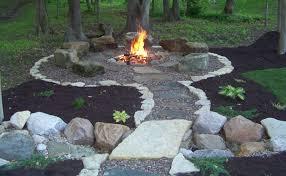 Simple Backyard Landscapes Wonderfull Design Fire Pits Designs Backyard Landscaping Ideas