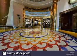 the magnificent mosaic flooring at the burj al arab classed as