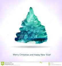 christmas cards in watercolor watercolor christmas card stock vector illustration of season