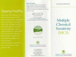 multiple chemical sensitivity mcs brochure seriously