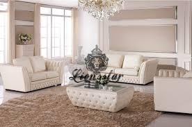 Chippendale Wohnzimmer Schrank Sofa Set Mit Tisch Weiß Kunstleder Lionsstar Gmbh
