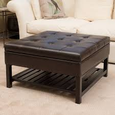 coffee table coaster ottomans contemporary square faux leather