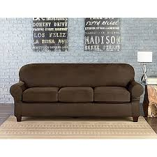 Leather Cushions For Sofas Sure Fit Vintage Faux Leather Individual Cushion 3 Seat Sofa