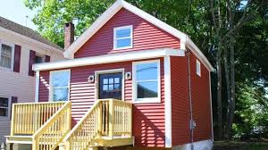 tiny red cottage in lawrence ma tiny house design ideas le