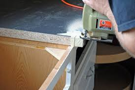 cutting countertop for sink installing an ikea farmhouse sink in an existing cabinet at the