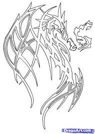 drawn fire dragon breathing pencil color drawn fire