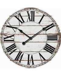 big deal on rustic white oversized wood wall clock 24