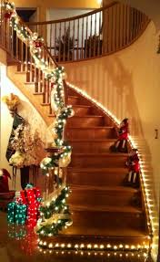 uncategorized beautiful pretty christmas staircase decorating to