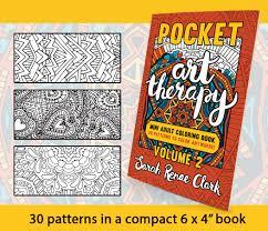 pocket art therapy volume 2 sarah renae clark coloring book
