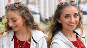 brooklyn u0027s double bun half up hairstyle u0026 hair hack cute girls