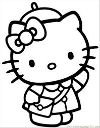 kitty coloring pages interestingpage