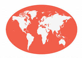 World Map Flat by World Map Planet Red Color Flat Web Elements Creative Market