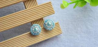 make stud earrings how to make a pair of shining light cyan pearl stud earrings