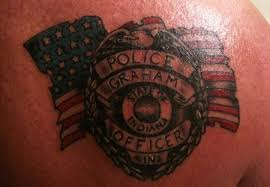photo 7 blue ink reader police tattoos photo gallery police