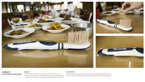 Toothpick Holders Ambient Advert By Toothpicks Ads Of The World